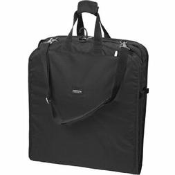 WallyBags 52-inch Dress Length, Carry-On Garment Bag with Tw