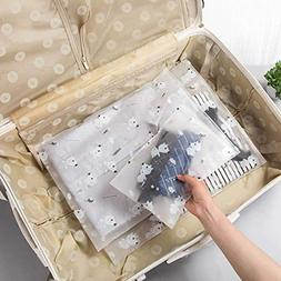 Creazy Waterproof Storage Bags, 5-Size Clothes Packing Cube