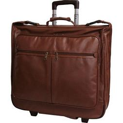 wheeled leather garment bag 2 colors