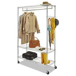 Wire Shelving Garment Rack, Coat Rack, Stand Alone Rack w/Ca