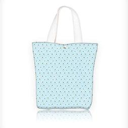 Women's Canvas Tote Bag, Chevron Pattern in Two Colors with
