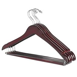 LOHAS Home 5-Pack Wooden Curved Hangers Beautiful Sturdy Sui