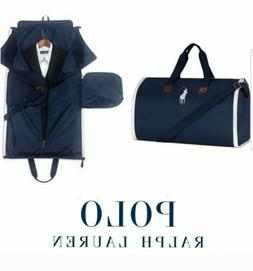 POLO RALPH LAUREN Zip-Up DUFFLE GARMENT Bag NAVY 2-in-1 DUFF
